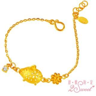 【2sweet 甜蜜約定】豬年純金金飾寶寶彌月手鍊-約重1.13錢(寶寶 嬰兒 彌月禮)