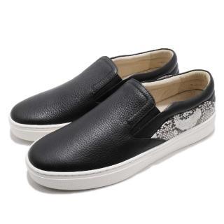【ROYAL Elastics】休閒鞋 Ketella 低筒 運動 男鞋 套腳 穿脫方便 皮革 質感 穿搭 舒適 黑 白(00384990)