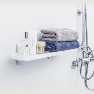 【3M】無痕防水收納-浴室置物板 免釘免鑽