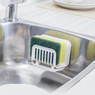 【3M】無痕防水收納-廚房菜瓜布架 免釘免鑽