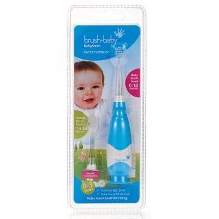 【英國brush-baby】嬰幼兒聲波電動牙刷(0-3歲/粉藍)