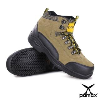 【PAMAX 帕瑪斯】休閒型寬楦氣墊鋼頭鞋、採銀纖維抗菌除臭工作安全鞋(PA00315H米 /男)