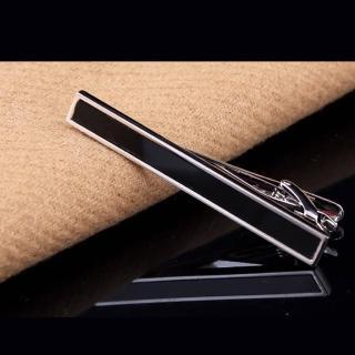 【拉福】黑銀造型6CM高檔領帶夾領夾(附盒)