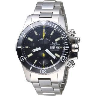【BALL 波爾】Engineer Hydrocarbon潛水計時腕錶(DC2236A-SJ-BK)