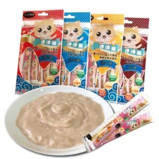 【寵物夢工廠】6大包入 / 呼嚕貓頂級海鮮貓肉泥 16g一條/5條裝一包 HACCP食安(鮪魚/鰹魚/干貝/鮮蝦)