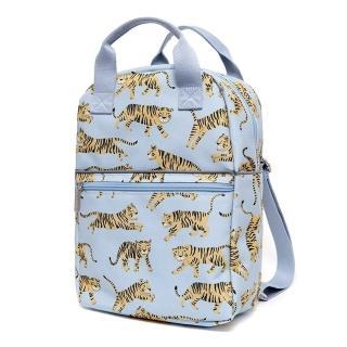【荷蘭Petit Monkey】環保灰藍老虎小童背包-L號(四款可選)