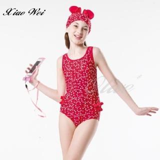【梅林品牌】女童三角連身泳裝(NO.M7502)