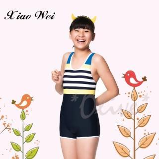 【Apple蘋果牌】時尚女童四角連身泳裝(NO.106616)