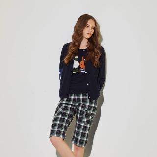 【ICHE 衣哲】暖時尚羊毛針織正反兩面特色印花造型外套-兩色-藍