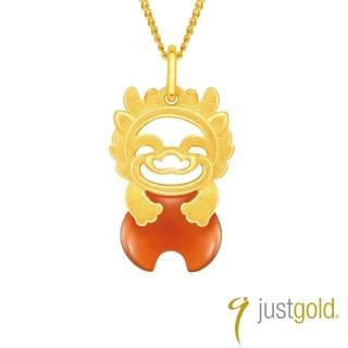 【Just Gold 鎮金店】吉祥寶寶十二生肖純金系列 黃金墜子-龍