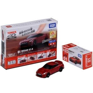 【TOMICA】4D 小汽車 01 日產 GT-R Red(小汽車)