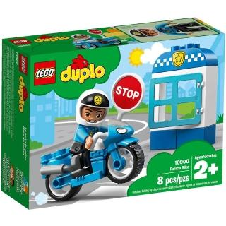 【LEGO 樂高】樂高 Duplo 得寶幼兒系列 - 警察摩托車 10900(10900)