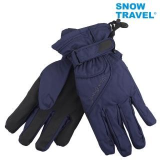【SNOWTRAVEL】英國進口PORELLE防水保暖透氣薄手套AR-52藍色(滑雪/騎車/戶外/雨天)