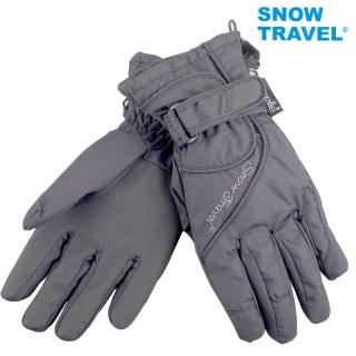 【SNOWTRAVEL】英國進口PORELLE防水保暖透氣薄手套AR-52灰色(滑雪/騎車/戶外/雨天)