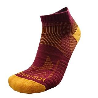 【EGXtech】P81短統多功8字運動襪(酒紅黃2雙入)
