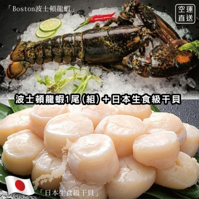 【海肉管家】加拿大波士頓螯龍蝦(送日本生食4S干貝)
