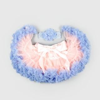 【日安朵朵】女嬰兒童雪紡蓬蓬裙 - 粉紅沙灘(寶寶女童澎裙禮服)