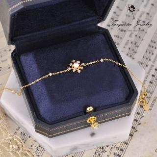【Turquoise Jewelry】小奢華巴洛克vintage風格宮廷細緻迷你天然淡水珍珠S925銀鍍金手鍊(tqsu0026)