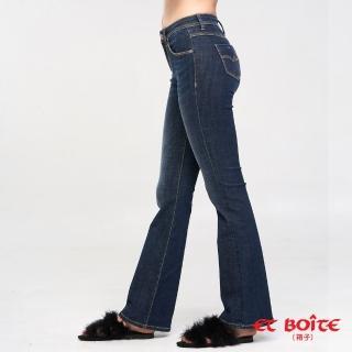 【BLUE WAY】繩股帶花高腰靴型褲 - ET BOiTE 箱子