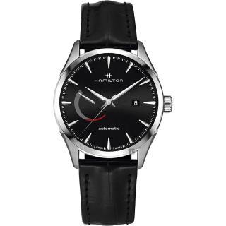 【HAMILTON 漢米爾頓】JAZZMASTER 爵士機械手錶-黑x銀/42mm(H32635731)