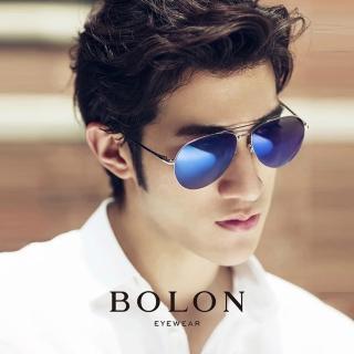 【BOLON 暴龍】知名大牌時尚流行男仕女仕墨鏡太陽眼鏡(經典熱賣百搭雷朋飛行框BL2560-偏光CD系列)