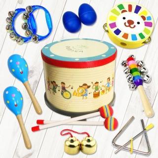 【美佳音樂】奧福打擊樂器/兒童樂器 韓國敲敲鼓 8件組(含袋)