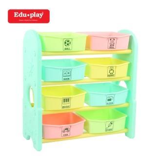 【Edu Play】兒童用品收納組/兒童玩具收納組4x8格(粉綠色)