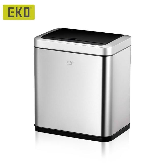 【EKO】倩影不鏽鋼感應垃圾桶9L(居家/客廳/廚房/感應垃圾桶)/