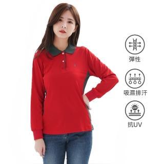 【遊遍天下】台灣製女款顯瘦抗UV吸濕排汗機能POLO長衫L137(M-5L)