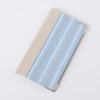 【生活工場】【女神節推薦】精裝藍條銀飾名片本96入