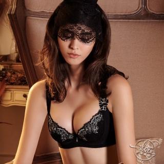 【Lady】城市夢幻系列 B-D罩 機能調整型內衣(晶鑽黑)