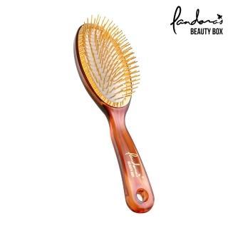 【Pandora's Beauty Box 潘朵拉的美妝盒】經典黃金梳-大(按摩梳/氣墊梳/梳子/髮梳)