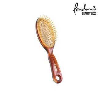 【Pandora's Beauty Box 潘朵拉的美妝盒】經典黃金梳-小(按摩梳/氣墊梳/梳子/髮梳)