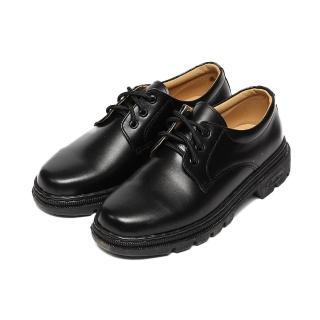【鞋全家福】女_真皮綁帶學生鞋_黑