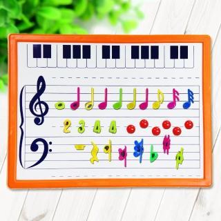 【美佳音樂】奧福打擊樂器/音樂教具 五線譜白板/音符磁鐵板(贈音符磁鐵)