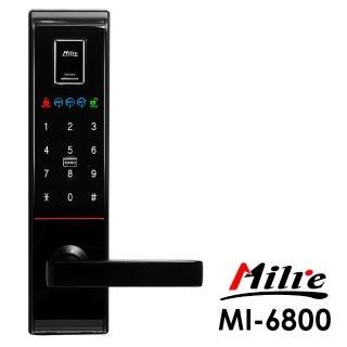 【Milre 美樂】MI-6800四合一密碼/指紋/卡片/鑰匙智能電子門鎖_黑色(附基本安裝)