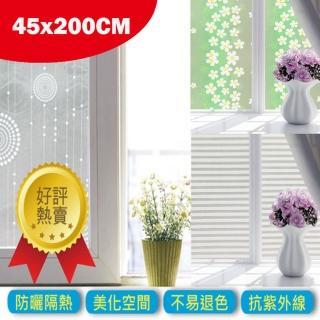 【DeLi】45x200cm抗UV防曬玻璃貼(45x200cm抗UV防曬窗貼)