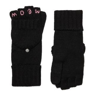 【KATE SPADE】超可愛黑色貓咪MEOW 2WAY兩用手套(KS1001737-001)