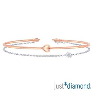 【Just Diamond】18K雙色金鑽石手環-Perfect Love