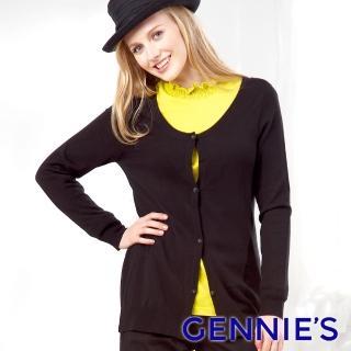 【Gennies 奇妮】百搭舒適質感外套(黑GSW32)