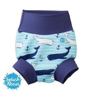 【Splash About 潑寶】3D加強版 游泳尿布褲(海洋鯨魚)