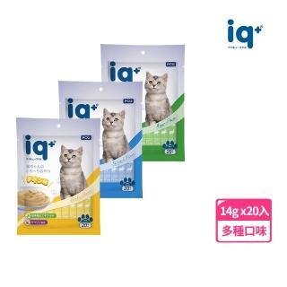【iq+】貓咪樂泥棒-肉泥14g*20入(量販包)/