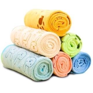 【夢工廠 5條入】寵物超細纖維強力吸水毛巾M號(速吸好用 可多用途應用)