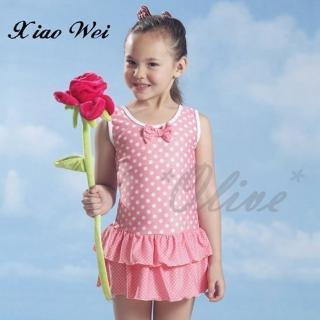 【小薇的店】泳之美品牌時尚女童連身裙泳裝(NO.67778)