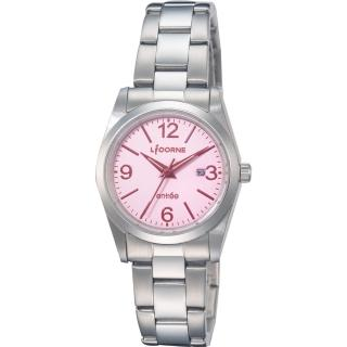 【LICORNE】力抗錶 都會簡約雅致手錶(粉紅/銀 LT076LWPA-R)