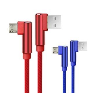 【QLA】LM120鋁合金L型Micro USB充電傳輸線