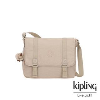 【KIPLING】溫暖奶茶色側背郵差包-HARRIS