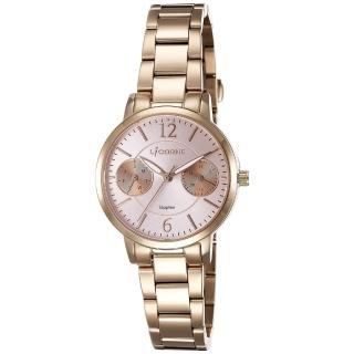 【LICORNE】力抗錶 花漾時光雙眼手錶(玫瑰金/粉紅 LT143LRPI)
