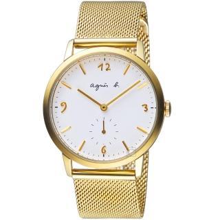 【agnes b.】法式簡約小秒針時尚米蘭腕錶(VD78-KLB0I BN4008X1)