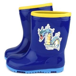 【童鞋城堡】神奇寶貝-寶可夢 中童 雙色大底雨鞋(PA7331-藍)